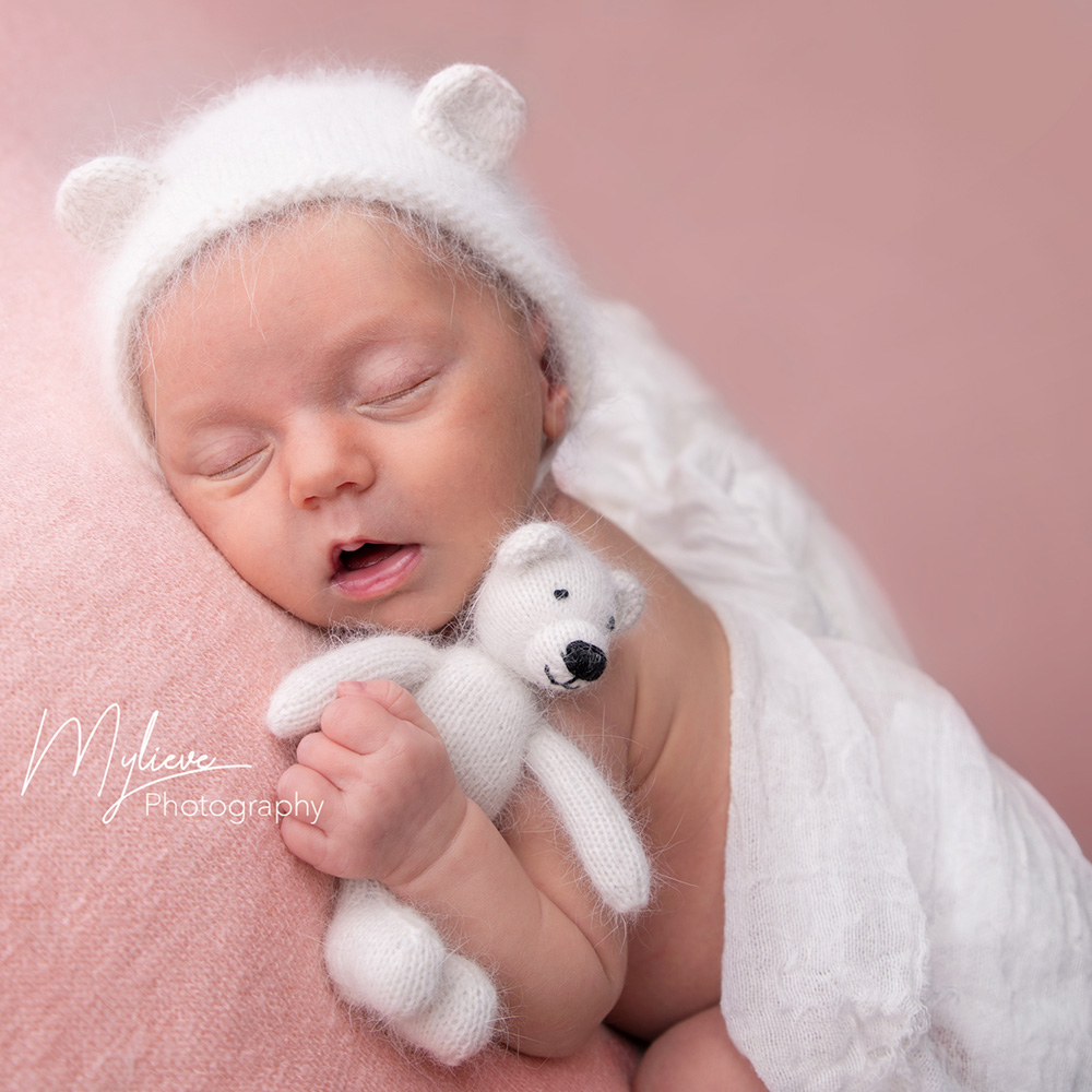 New Arrival!Knitted Hat, Mink Fur Hat,Newborn Photo Props,Fluffy Soft Bonnet For Baby Photography, Newborn Baby Gift