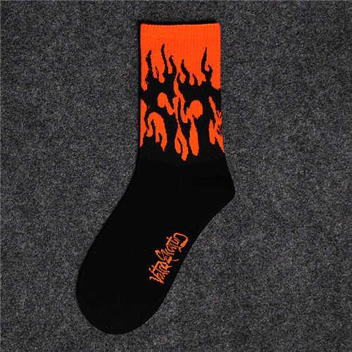CHAOZHU Grunge Mode Mädchen Jungen Streetwear Kühlen Feuer 9 Farben Skateboard Baumwolle Stricken Stretch Hip Hop Marke Harajuku Socken