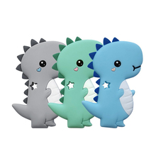 2 pcs Baby Animal Silicone Teethers Dog Dinosaur Koala For Pacifier Chains BPA F