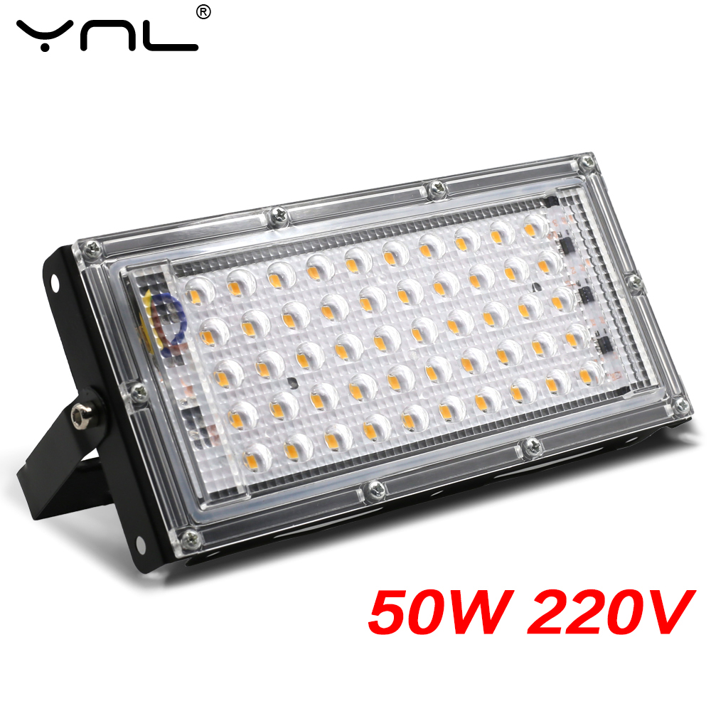Combinable Foco LED Floodlight 220V 50W Spotlight Outdoor Focus Projector LED Reflector Lighting Streetlight Waterproof IP65