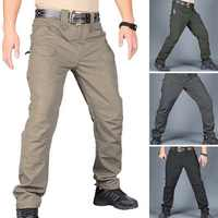 Men's Tactical Pants Casual Autumn Lightweight Water-Resistant Hiking Trousers Outdoor Ridge Cargo Sweatpants Long Homme Pants