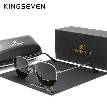 KINGSEVEN Authentic Vintage Sunglasses Men Polarized Women Hexagon Sun Glasses Stainless Steel Lunette De Soleil Femme N7748 мужские солнцезащитные очки men and women sunglasses de soleil desinder 2015 tyj073 page 2