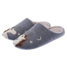 Dropshipping Indoor Warm Men Cute Animal Unicorn Winter Fur Home Shoe Female Boy Nonslip Memory Foam Cotton House Slippers(China)