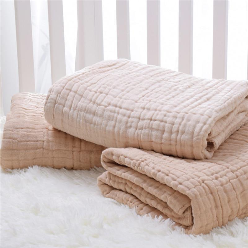 100x100cm Swaddle Baby Cotton Baby Blankets Newborn Gauze Blanket Bamboo Baby Swaddle Blankets Muslin