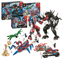 NEW Marvel Superheros Compatible with Lepining 76113  Spiderman Bike Rescue  Figures Building Blocks Bricks Toys for Children single sale building blocks mk85 thor doctor octopus pepper captain america spiderman figures for children education toys kf6097