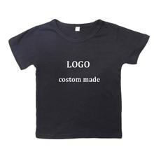 Wgtd cutom sua imagem 2d impresso meninos meninas t camisa bebê verão t-shirts para clientes produtos