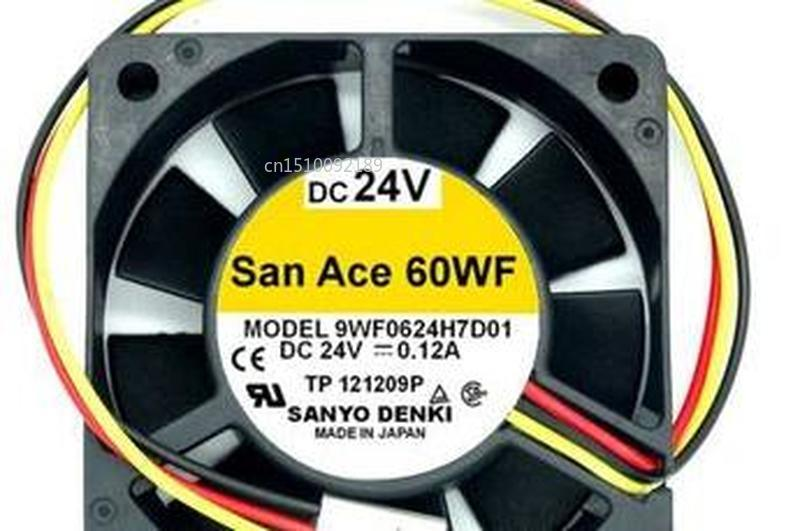 For DENKI SAN ACE 9WF0624H7D01 6015 DV24V 0.12A 3lines Waterproof Cooling Fan Free Shipping
