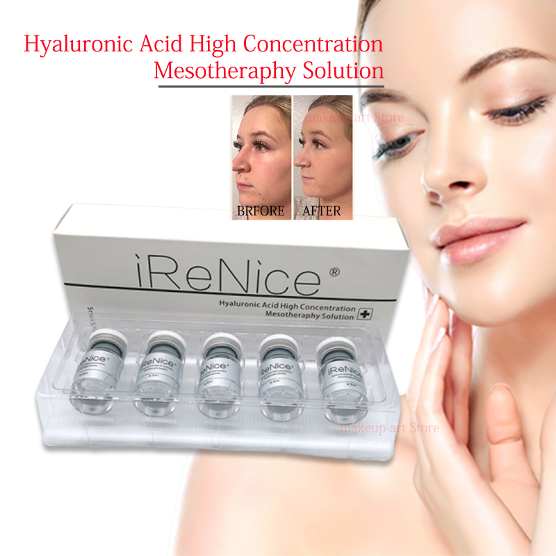 5ml Hyaluronic Acid Pure Micro Molecular Water With Mesotherapy Gun 1/2/5pcs Hyaluronic Acid Serum Skin Whitening