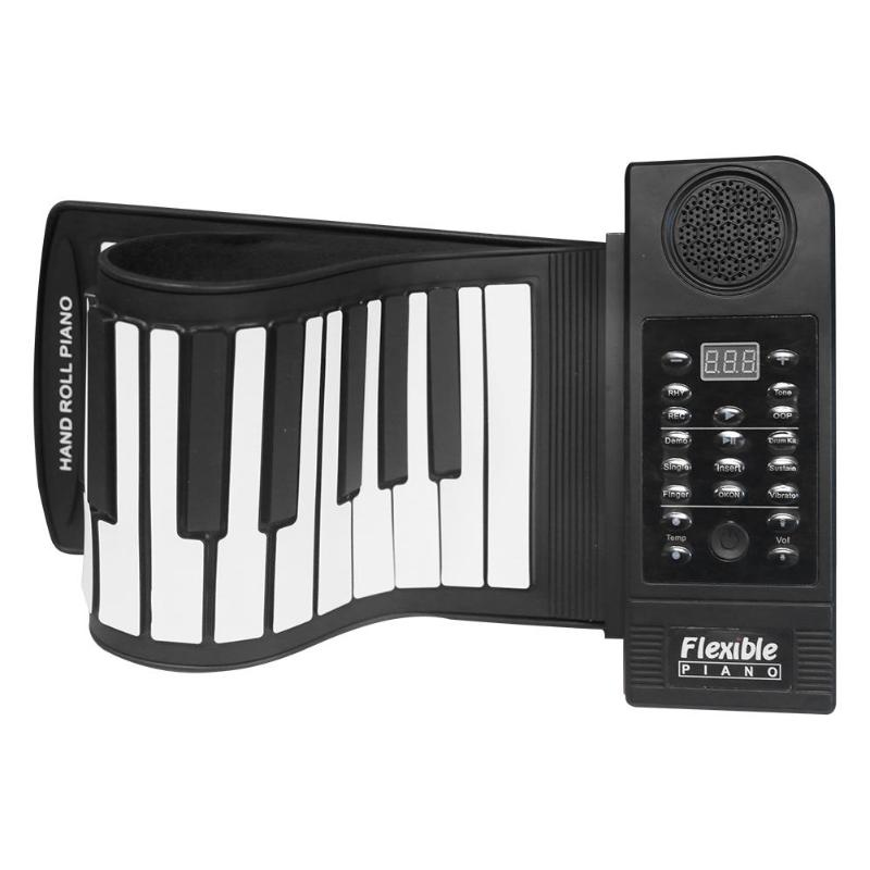 61 Keys Flexible Roll Up Piano Portable Silicone MIDI Electronic Soft Keyboard Piano Household Hand Rolled Musical Instrum
