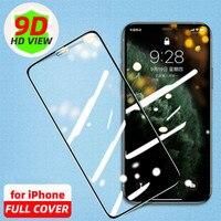Protectors de pantalla iPhone 7 y 8 de cristal templado para iPhone 12 11 Pro Max SE Pro 2020 10 X XR XS 8 7 Plus Protector de Verre Trempe 6s Vitre de protección protector pantalla iphone x
