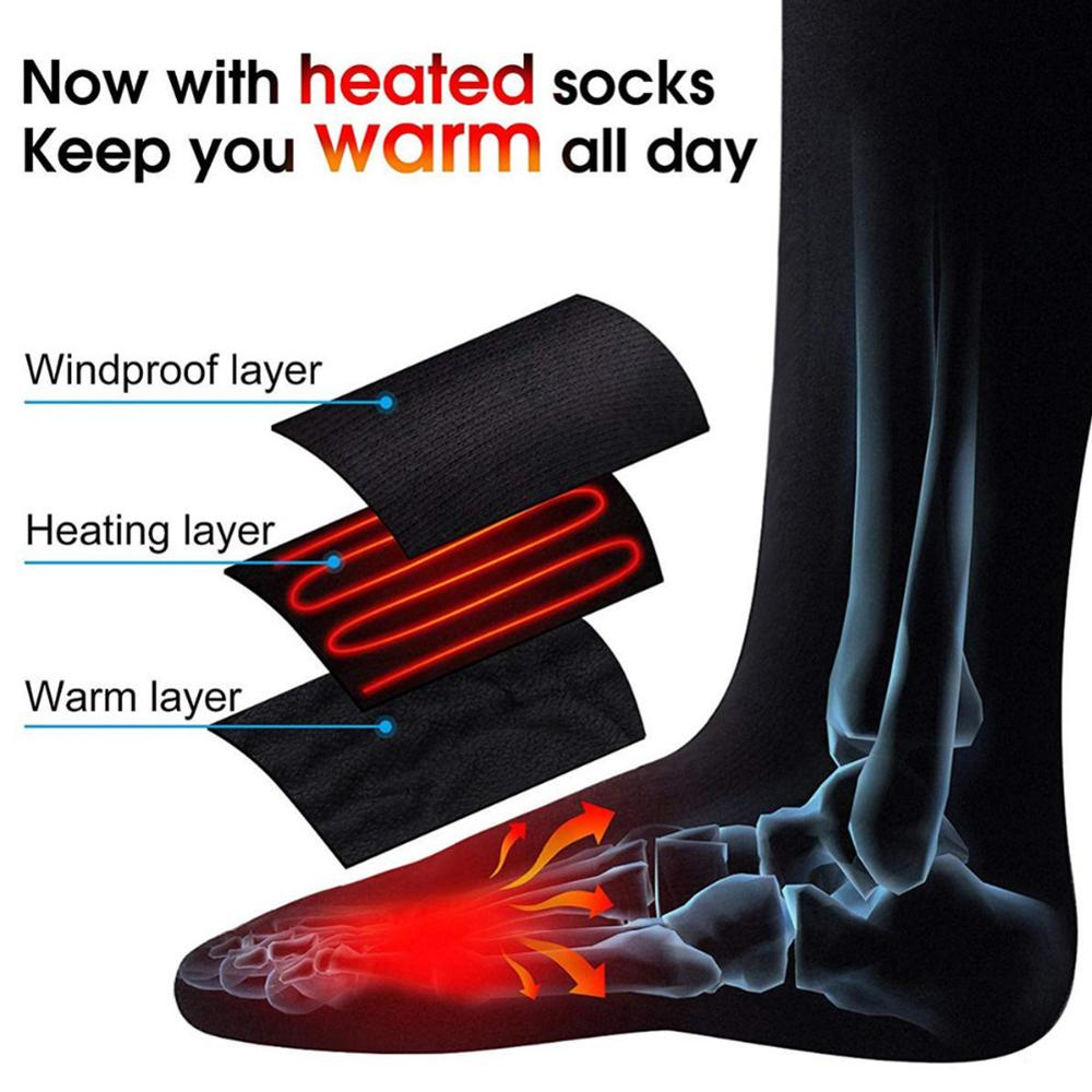 Thermal Cotton Heated Socks Men Women Battery Case Battery Operated Winter Foot Warmer Electric Sock