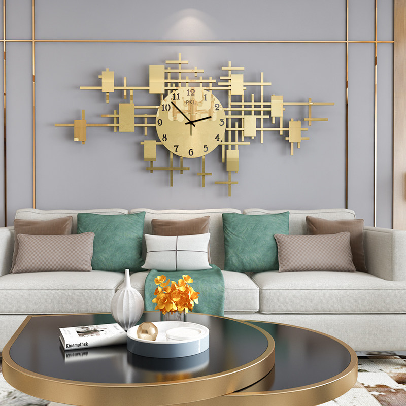 Europe Metal Wall Clock Modern Design
