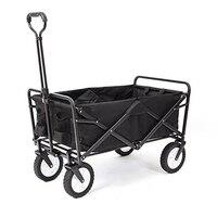 Carro de B-LIFE plegable con dosel para niños, carrito de compras de jardín y carga, carro de Festival de 4 ruedas, carretilla portátil