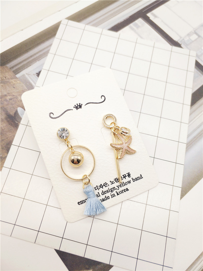 Korea Handmade Acrylic Shell Starfish Tassel Women Drop Earrings Dangle Earring Fashion Jewelry Accessories-JQD5