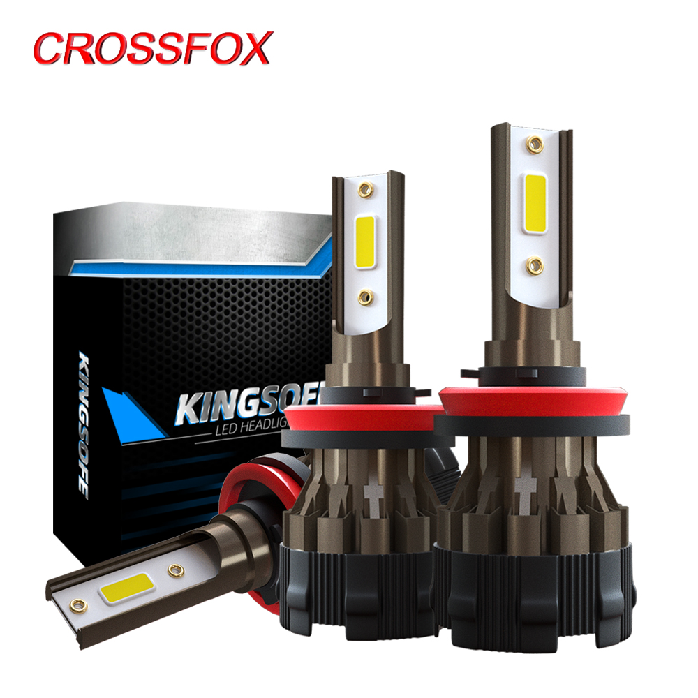 Luzes Do Carro CROSSFOX lampada H4 H7 alta y baja LEVOU Lâmpadas 6000K H8 H9 H11 9006 HB4 HB3 9005 LED H1 8000LM 12V Lâmpada Do Farol Luz