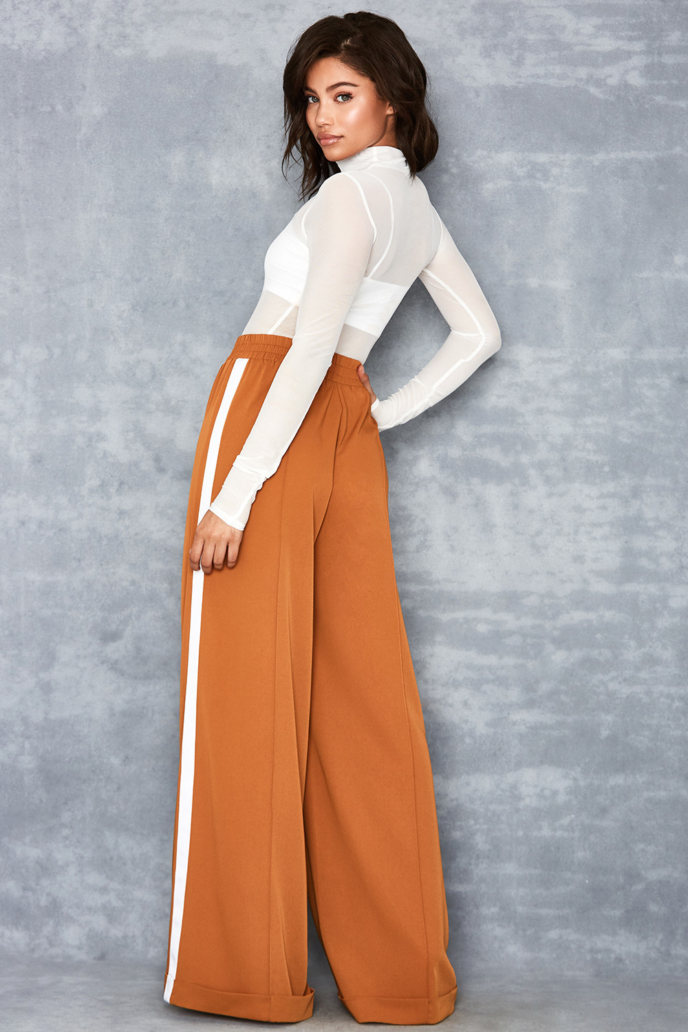2019 European And American-Style Platform-Selling Women's Fashion Hot Selling Wide-Leg Pants