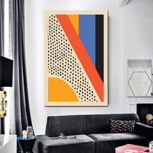 Modern Multicolored Geometric Abstract Scene Wall Art Canvas Painting