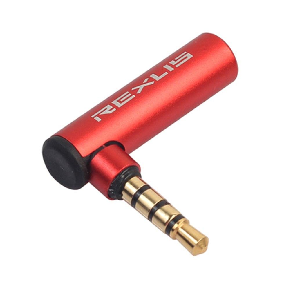 2 piezas de 3,5mm macho a hembra adaptador de ángulo recto de 90 grados Audio micrófono Jack enchufe del conectador estéreo y Play