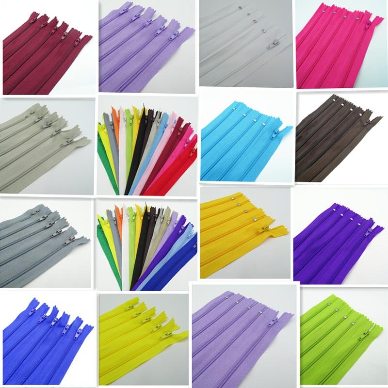 Замкнутая нейлоновая застежка-молния, 3-10 дюймов, 100-25 см, 20 цветов на выбор, 7,5 шт.
