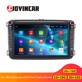 JOYINCAR Android 9.1 2 din Car Radio Multimedia Player GPS Navi Autoradio head unit For VW/Volkswagen/Golf/Polo/Tiguan/Passat/b7 image