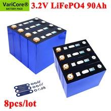 8 Stks/partij 3.2V 90Ah LifePo4 Batterij Lithium 270A 3C Hoge Afvoer Voor Diy 12V 24V Omvormer elektrische Voertuig C Oach Golfkar