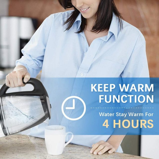 DEVISIB Variable Temperature Electric Kettle 2.0L Glass for Tea Coffee Keep Warm Function Boil-Dry Protection Kitchen Appliances 3