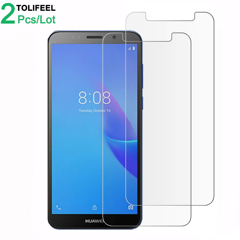 2Pcs Tempered Glass For Huawei Y5 Lite 2018 Screen Protector 9H 2.5D Phone On Protective Glass For Huawei Y5 Lite 2018 Glass