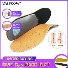Унисекс Премиум Кожа ортопедические плоскостопие обуви стельки Высокая супинатор ортопедический Pad для коррекции OX ног Здоровье и гигиена