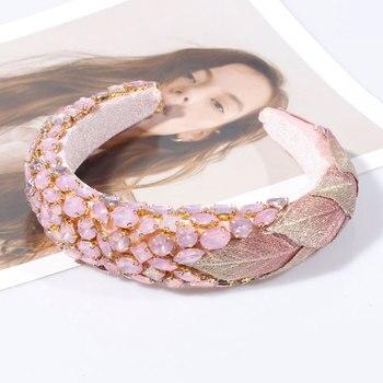Luxury Crystal Pink Purple Rhinestone Headband  4