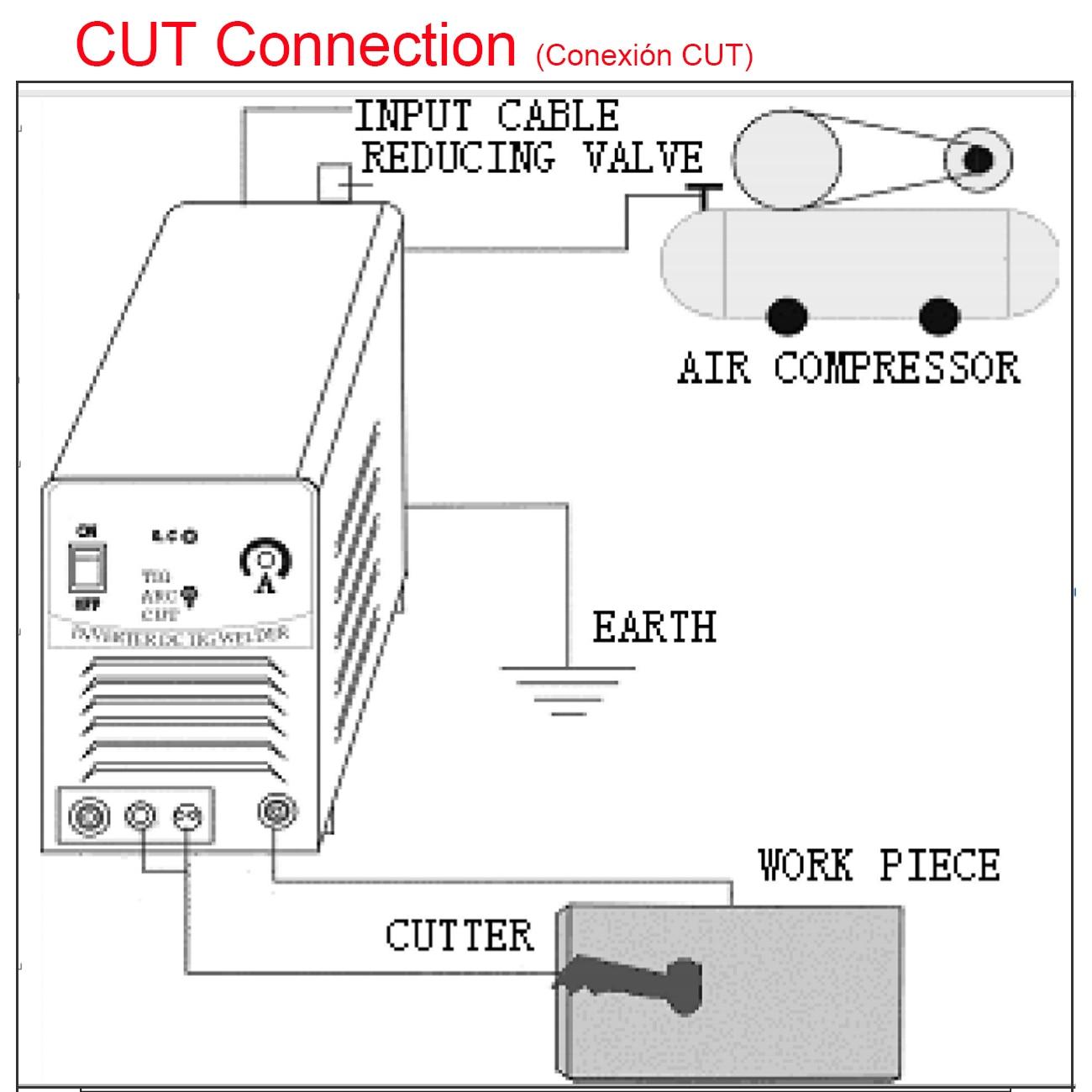 Cortador de Plasma CUT50 CT312, inversor digital de aire, 220V, espesores de 1-12mm