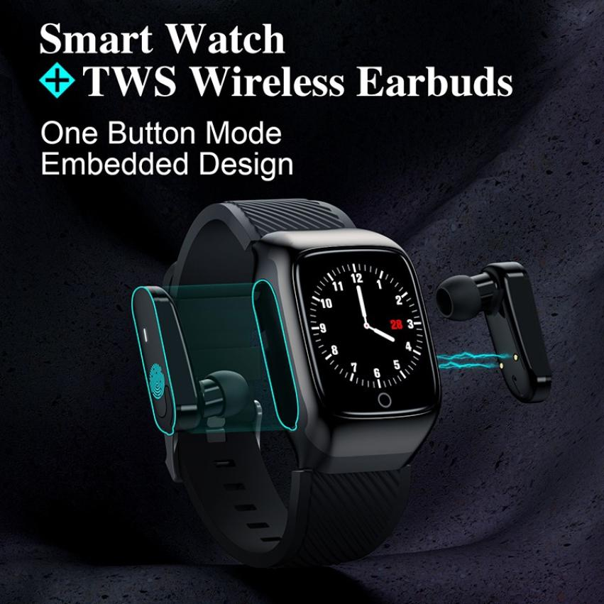 S300 Bluetooth Call Smart Bracelet TWS Smart Earphone 2-in-1 Pedometer Heart Rate Blood Pressure Call Reminder Smart Band Watch (10)