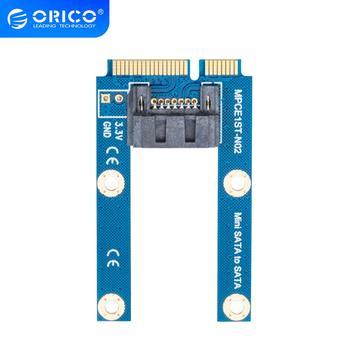 ORICO SATA 7PIN to mSATA Adapter Flat Type SSD Adapter SATA3.0 to mSATA SATAIII Protocol Full Height Size Supported