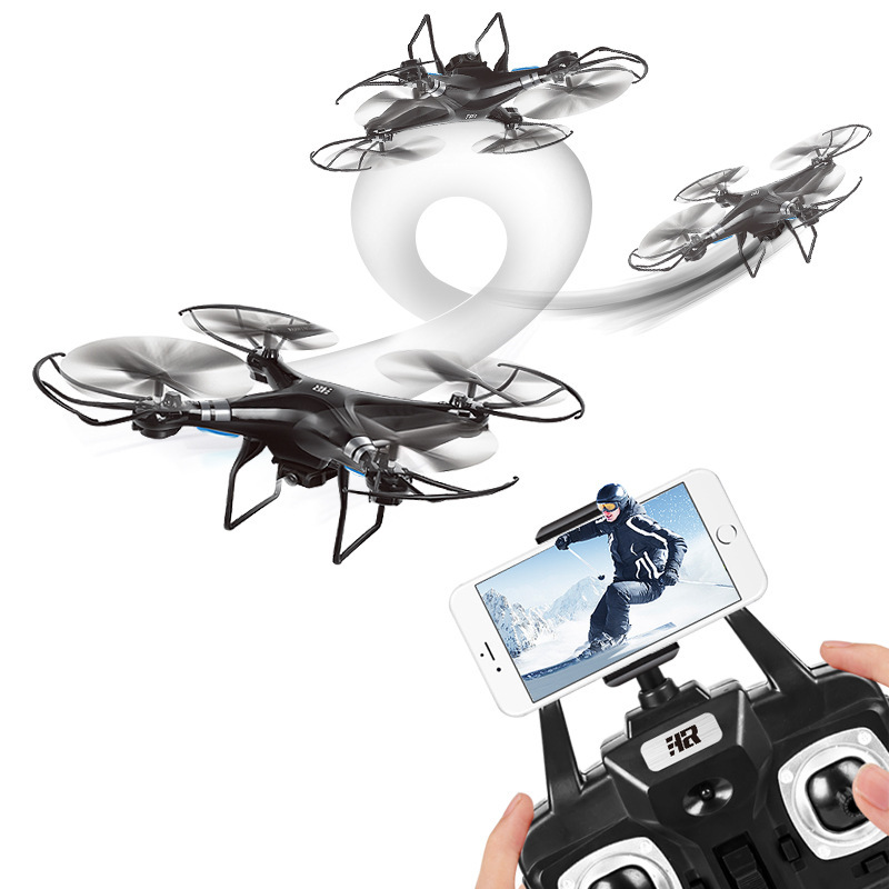 Douyin Celebrity Style Unmanned Aerial Vehicle Remote Control Aircraft WiFi Real-Time Image Four-axis Children Aircraft High-def