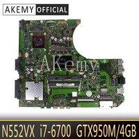 N552VW N552VX Laptop anakart ASUS için VivoBook Pro N552VW N552VX N552V orijinal anakart HM170 I7-6700HQ GTX950M-4GB