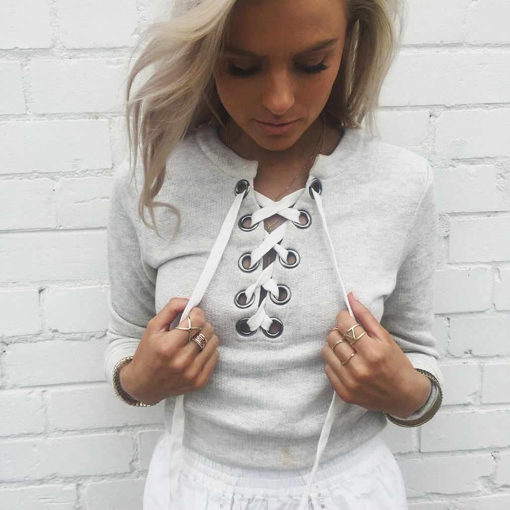 Dikker Trui Dameskleding Lange Mouwen Blouse Solid Hooded Trekkoord Sweatershirt Plus Size Sweatshirt Roupas Femininas