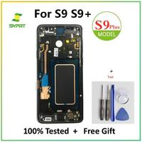 Original For Samsung Galaxy S9 Plus AMOLED Display Touch Screen Digitizer Assembly For Galaxy G960 G960F G965 G965F OLED Screen