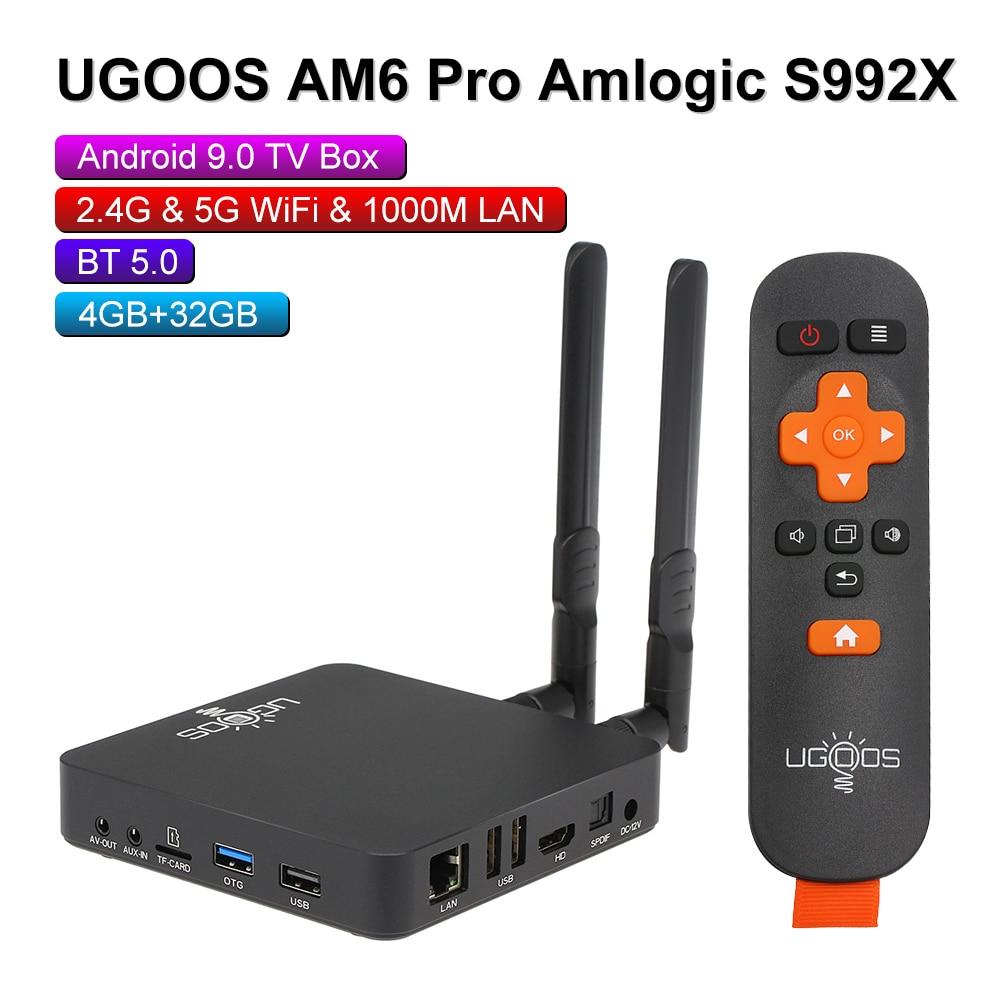 New AM6 Pro Smart Android9.0 TV Box Amlogic S922X 4GB LPDDR4 32GB 2.4G 5G WiFi TV Box 1000M LAN BT5.0 4K HD AM6 AM3 Media Player(China)