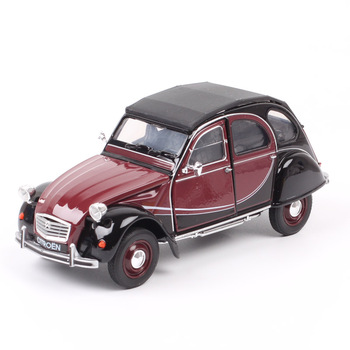 Children's 1:24 Scale Classic Welly Citroen 2CV 6 Charleston 1980 Diecasts & Toy Vehicles Car Models Metal Gift Auto Collection image