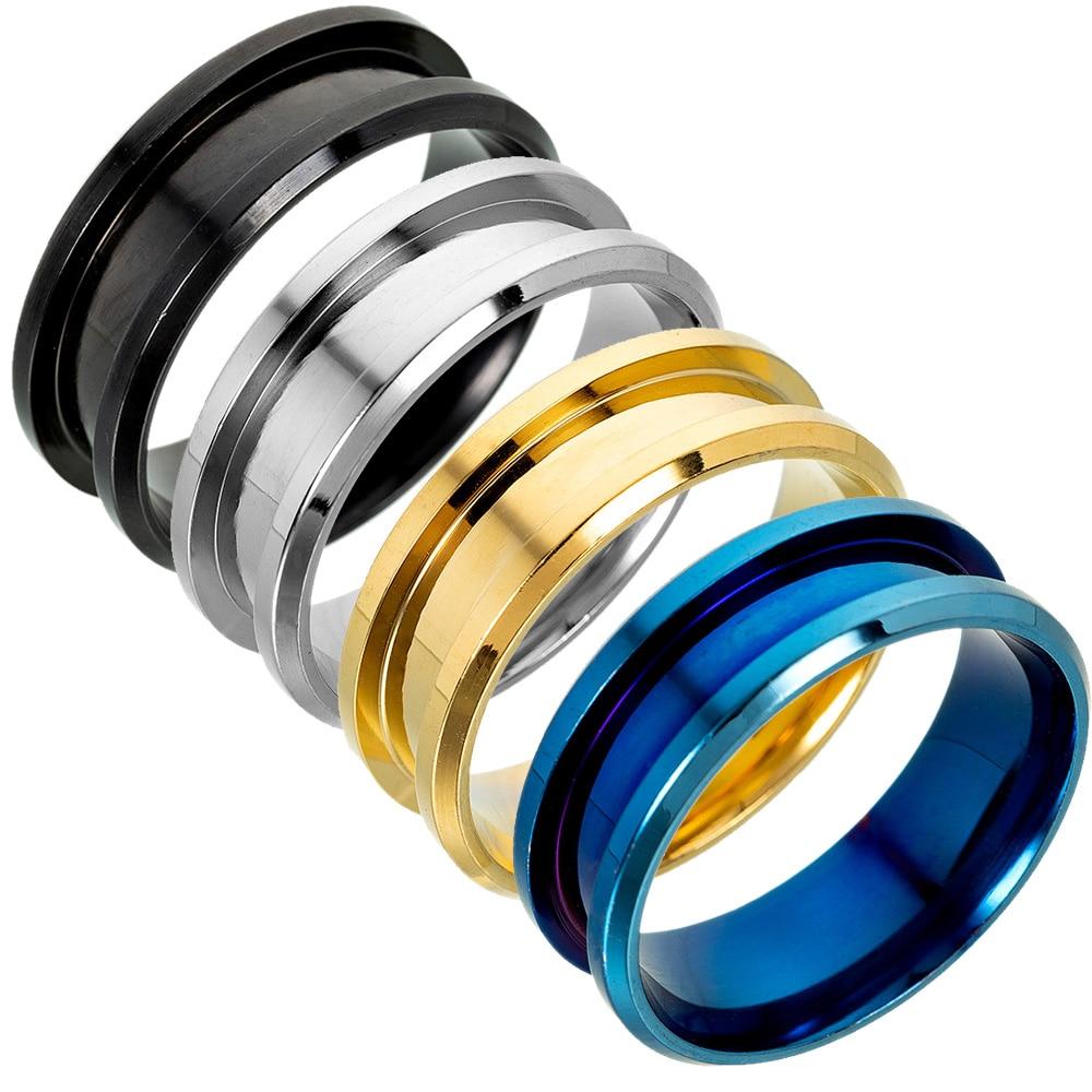 8 мм, металлические пустые кольца ручной работы, материалы для изготовления ювелирных изделий своими руками