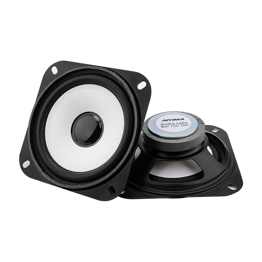 AIYIMA 2Pcs 4Inch Audio Bass Speaker Loudspeaker Woofer DIY For Stereo Bluetooth Speaker 2Ohm 5W Home Theater Sound System