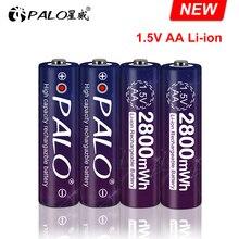 Palo 1.5V Aa Li Ion Oplaadbare Batterij Aa 1.5V 2800mWh Lithium Li Ion Oplaadbare Batterij Bateria Aa 1.5V Voor thermometer