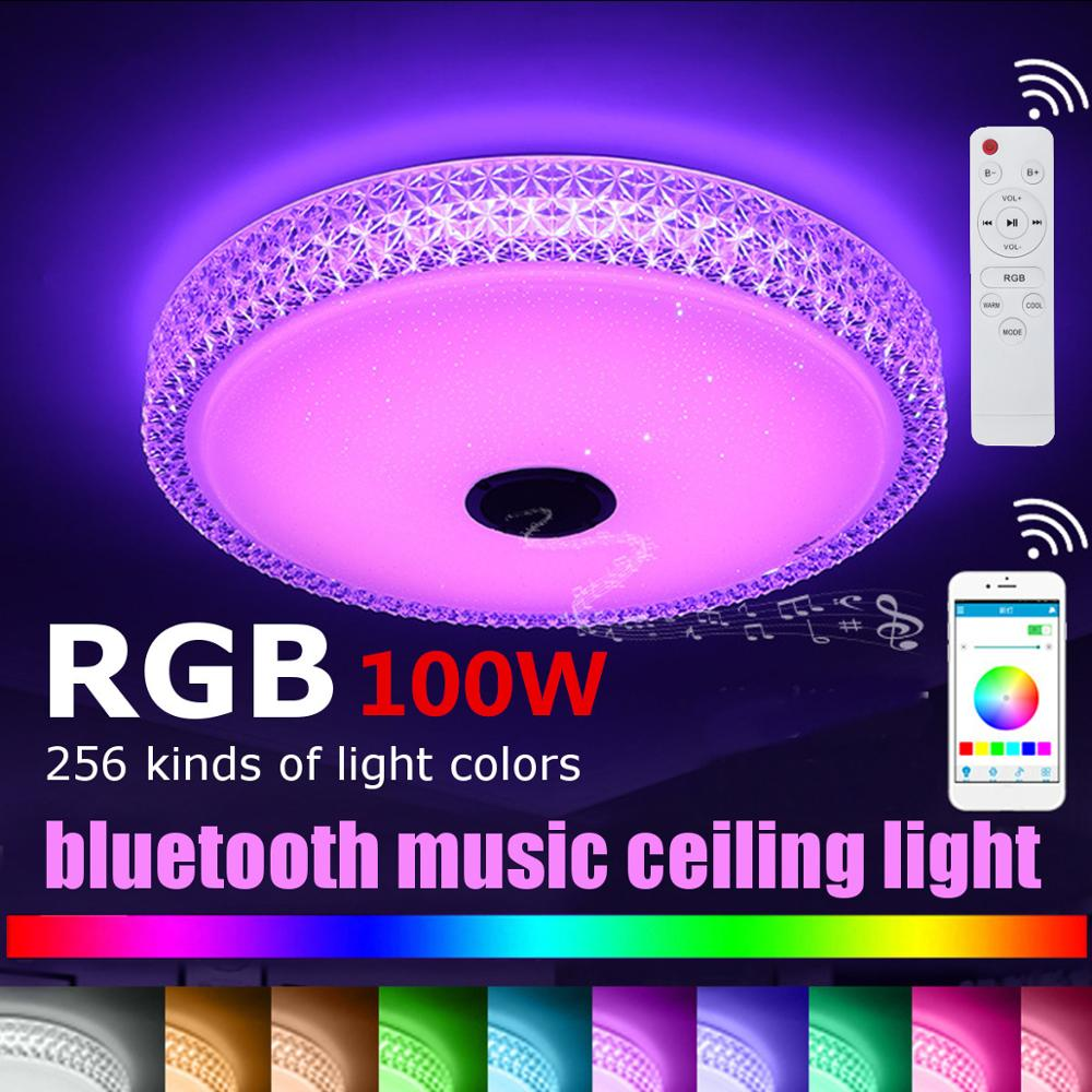 100W 40CM Modern RGB LED Ceiling Lights Home lighting APP bluetooth Music Light Bedroom Lamps Smart Ceiling Lamp Remote Control