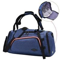 Gym Bag Fitness Travel Luggage Handbag Men Training Sports Backpack Shoes Compartment Comfortable Widened Shoulder Strap Bag