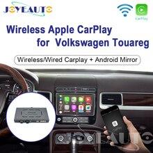 Joyeauto Wifiไร้สายApple CarplayสำหรับVolkswagen Touareg 2010 2017 8นิ้วAndroidรถPlayด้านหน้า/กล้องด้านหลัง