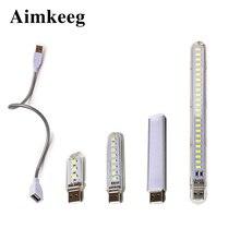 цена на Mini USB LED Table Lamp Portable Reading Desk Light 3 8 12 24Leds Book Night lights Flashlight For Camping Power Bank Notebook