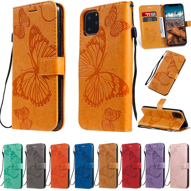Butterfly Leather Wallet Case for iPhone 11/11 Pro/11 Pro Max