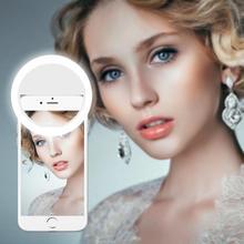 Lâmpada led para telefone selfie pode ser escurecido led anel de luz telefone inteligente led backlight