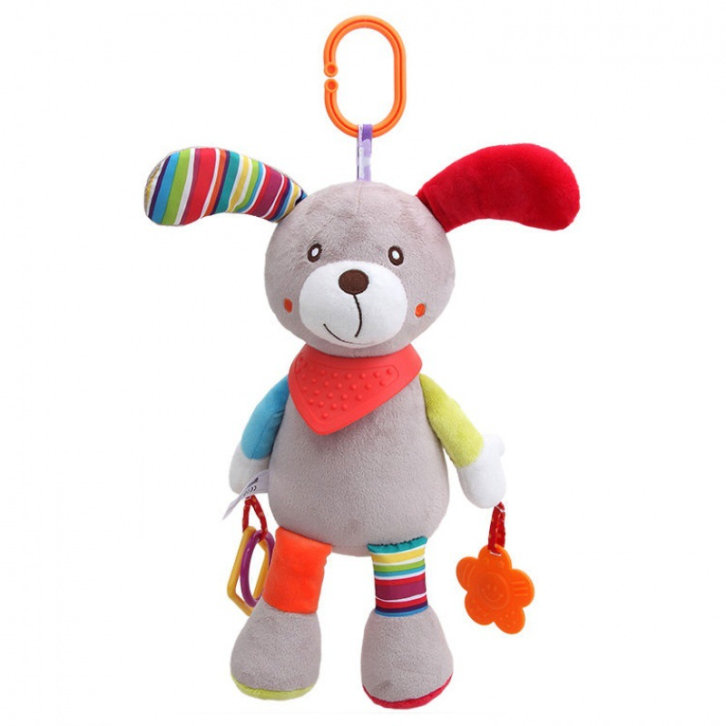Newborns Cartoon Animal Rattle Infant Rattle Educational Bell Hand Rod 0-1-Year-Old Plush Toys