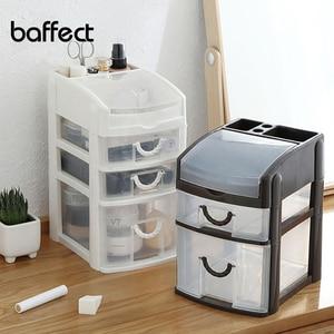 Mini 3 Layers Desktop Drawer Storage Box Sundries Case Small Objects Cosmetics Box Desktop Makeup Organizer Dropshipping