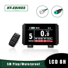 Connector Lcd8-Display Kt Lcd8h Waterproof Bicycle-Accessories Ebike Kunteng 24V 36V